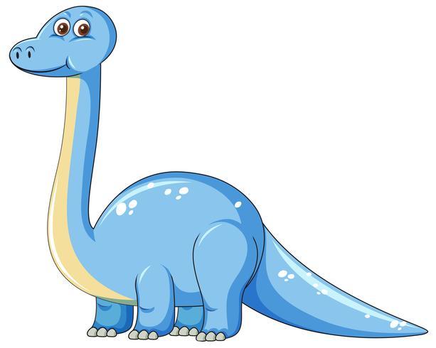Cute blue dinosaur.