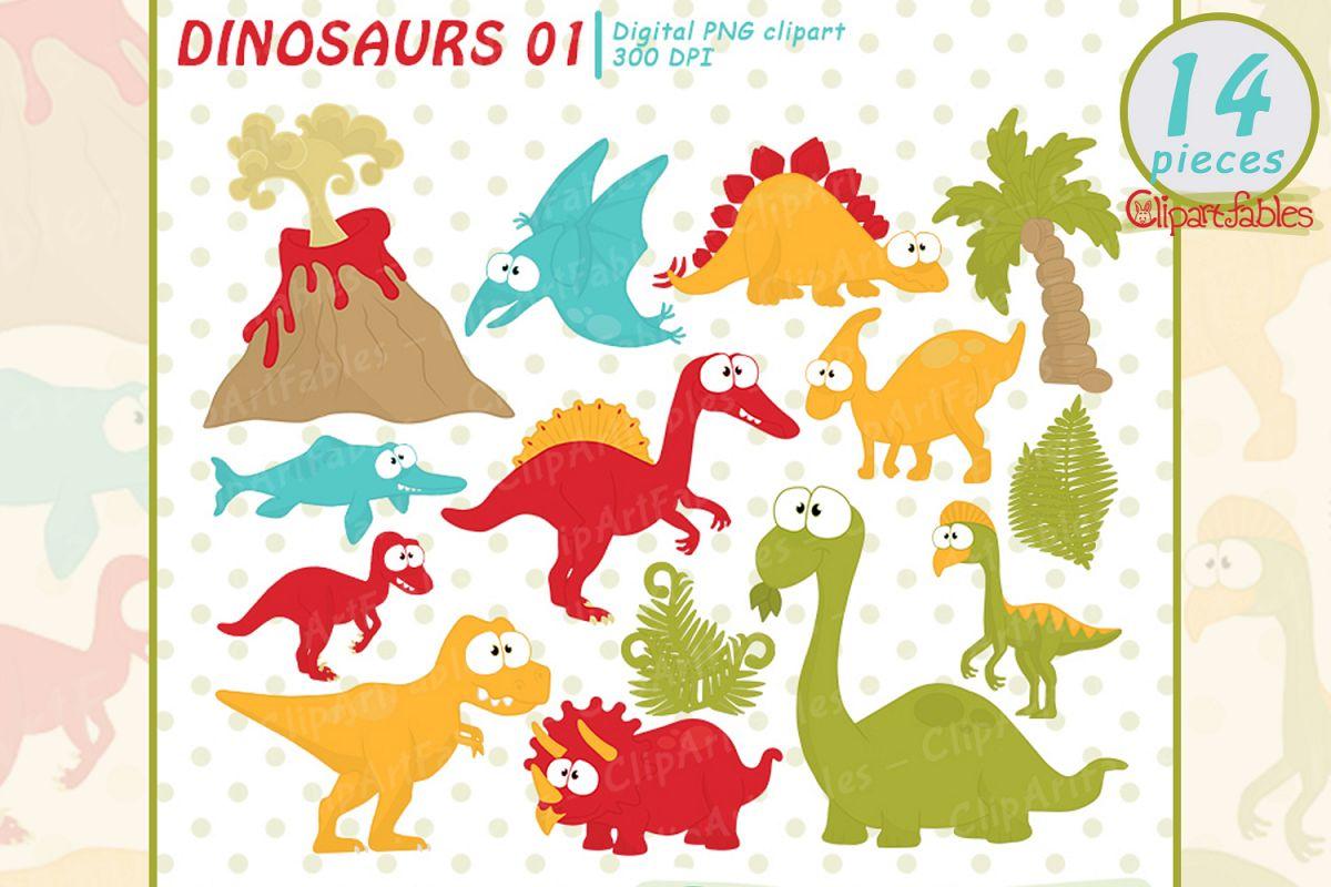 Dinosaur clipart cute.