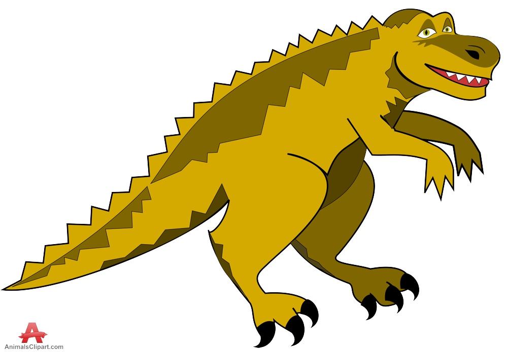 Scary dinosaur clipart.