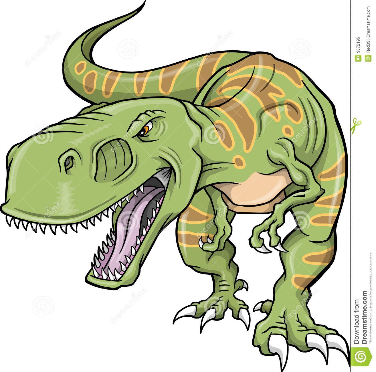 Vector trex dinosaur.