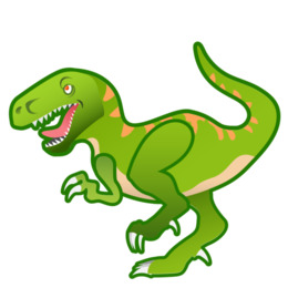 Scary dinosaurs clipart.