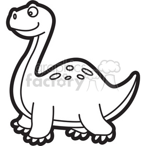 Brachiosaurus dinosaur cartoon in.
