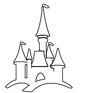 castle clipart easy