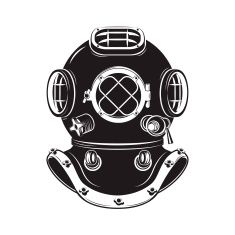 diver clipart old