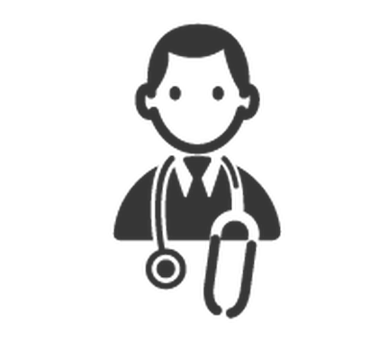 doctor clipart black and white illustration