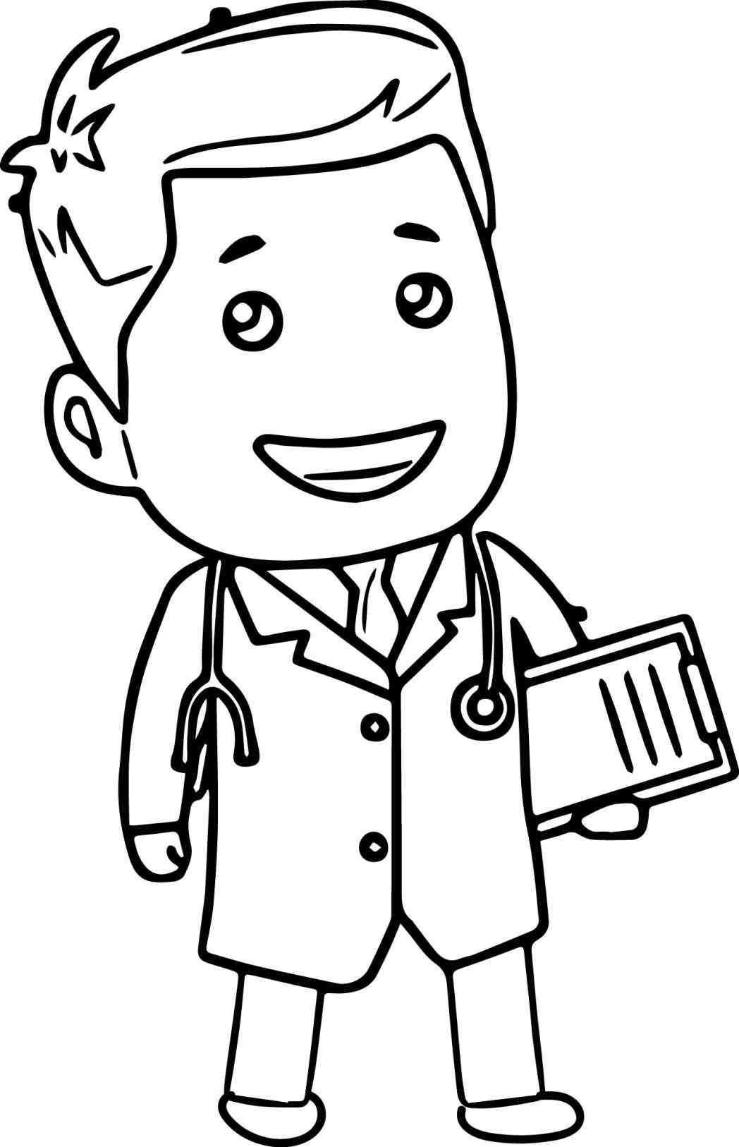 Doctor clipart black.