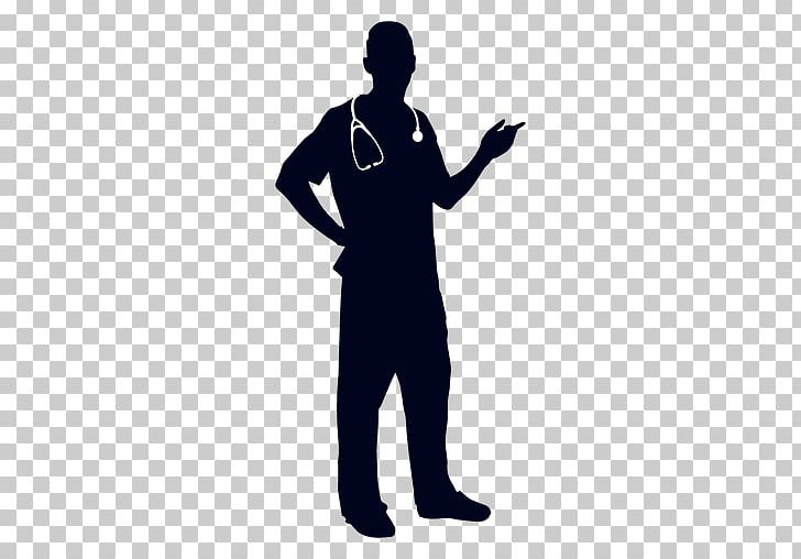 Physician medicine silhouette.