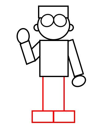 Drawing a cartoon doctor