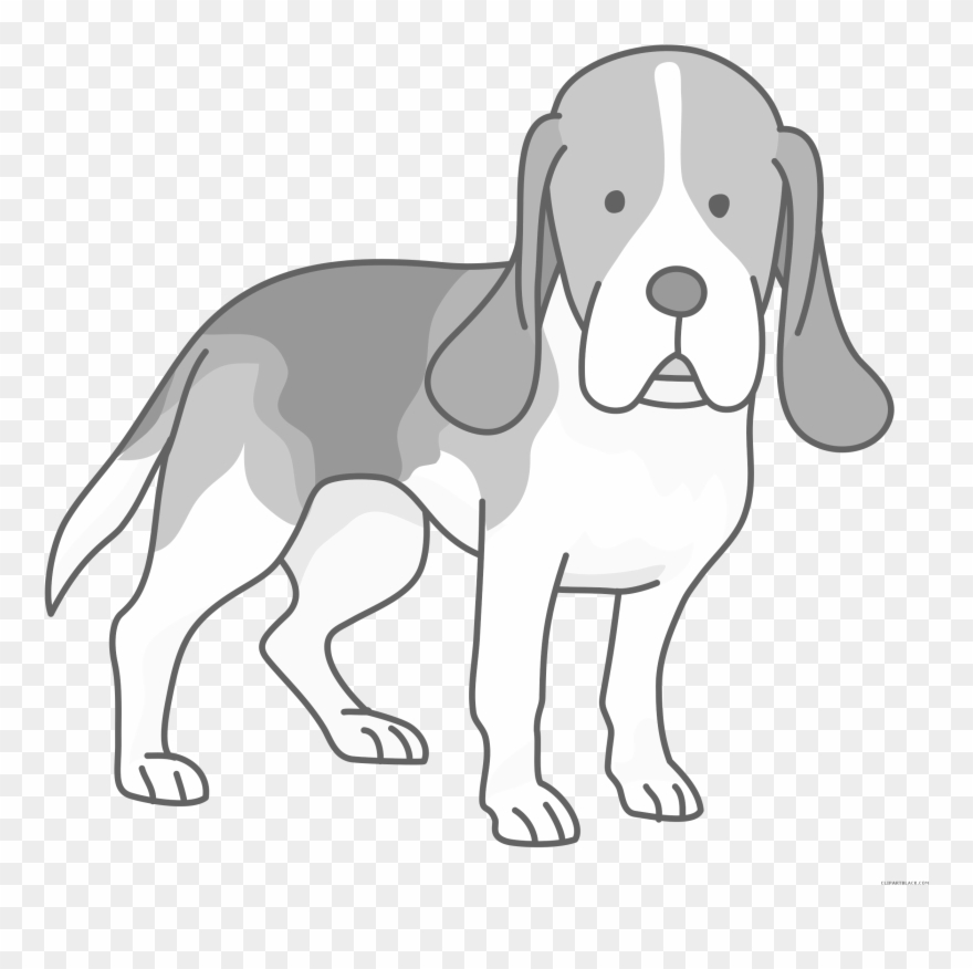 Beagle dog clipart.