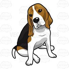Beagle dog clipart.