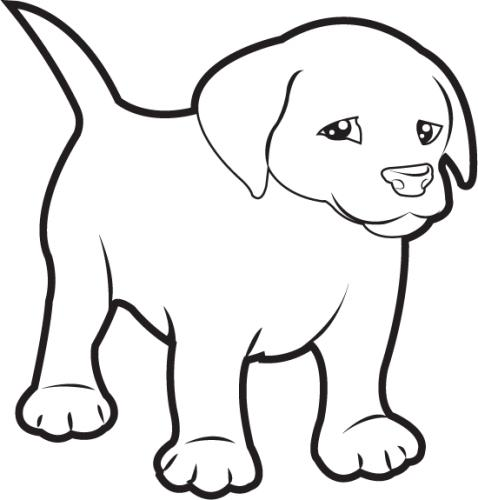 Dog black and white black and white clipart of dog