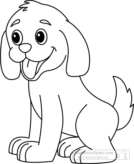 Dog black and white dog black and white clipart