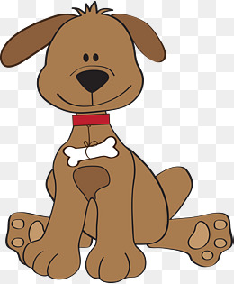 Brown dog clipart