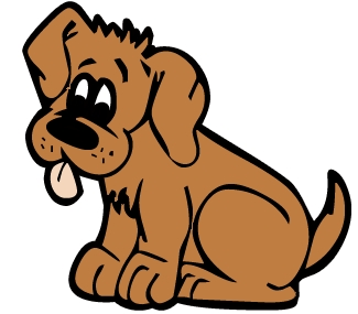 Brown dog clipart.