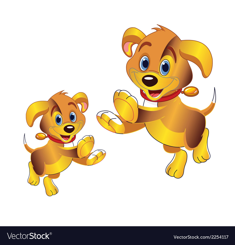 3D cartoon dog clipart