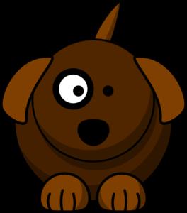 Cartoon dog clip.