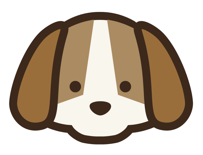 Easy dog clipart.