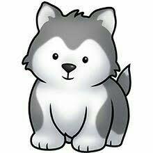 Image result for husky dog clipart