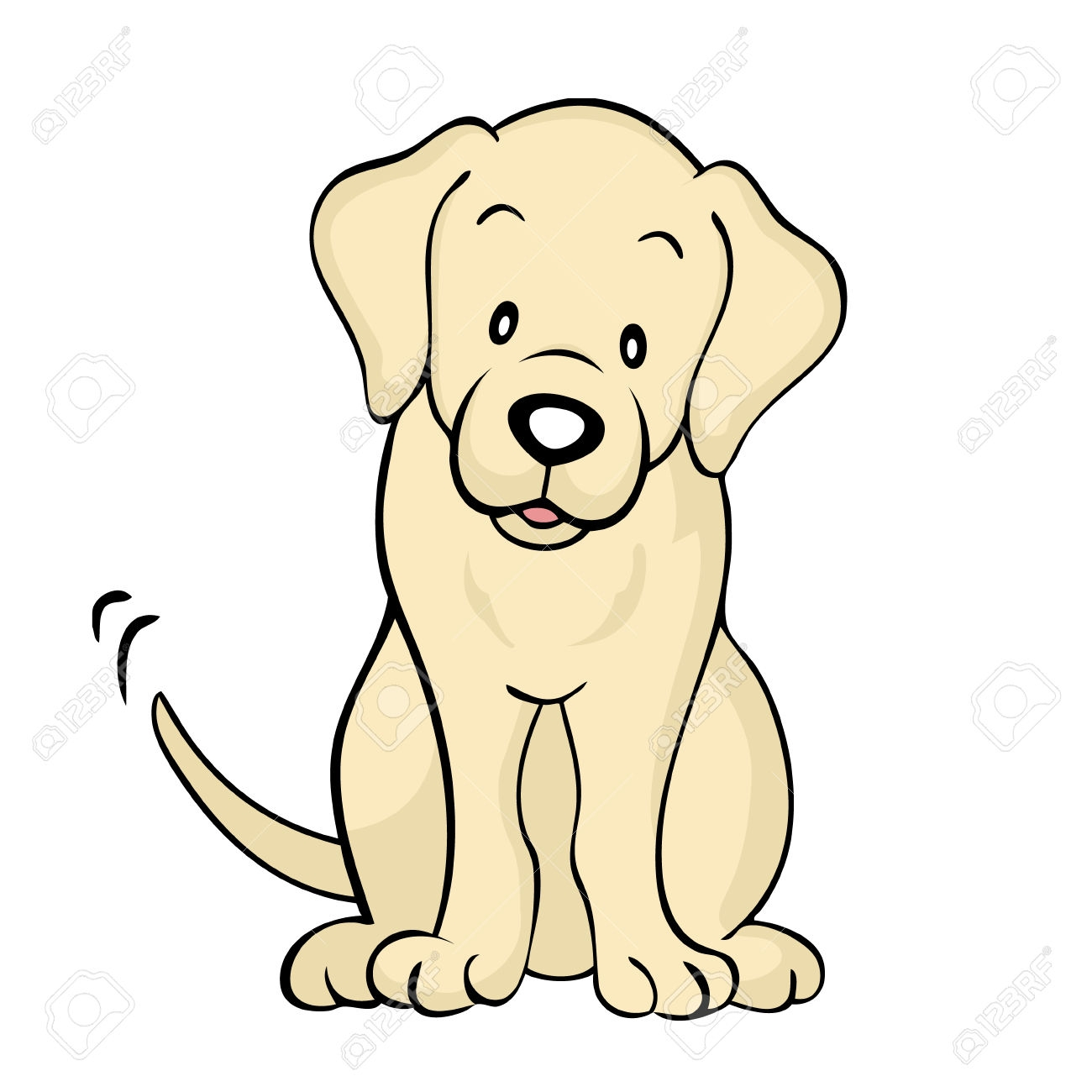 Lab dog clipart