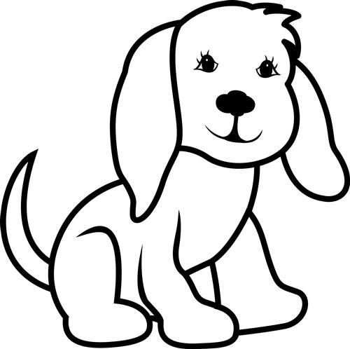 Free dog outline.