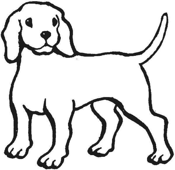Outline dog clipartsco.