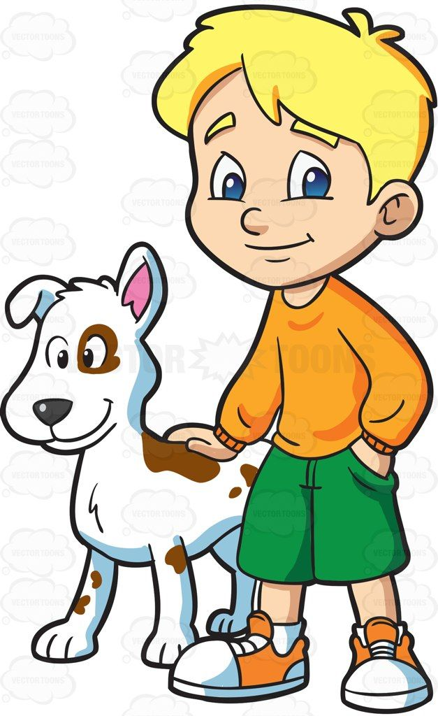 A boy with his trusty pet dog