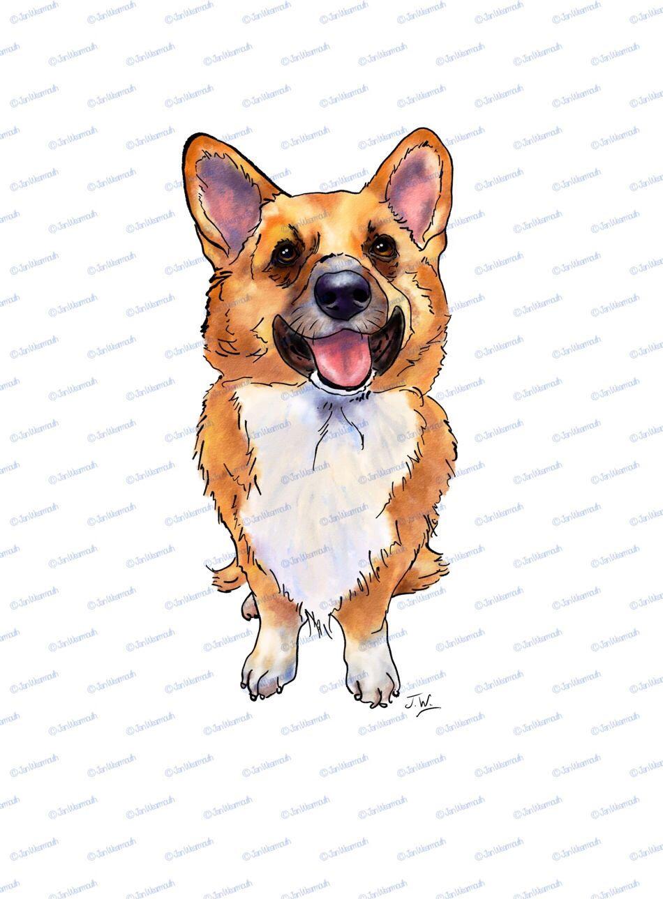 Dog clipart Corgi clipart printable dog clip art corgie clip