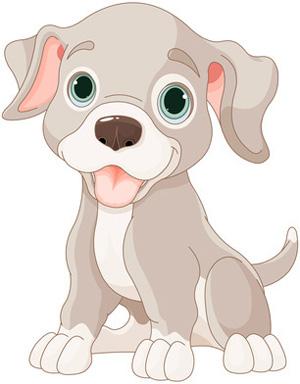 Clip Art Grey Puppy Dog