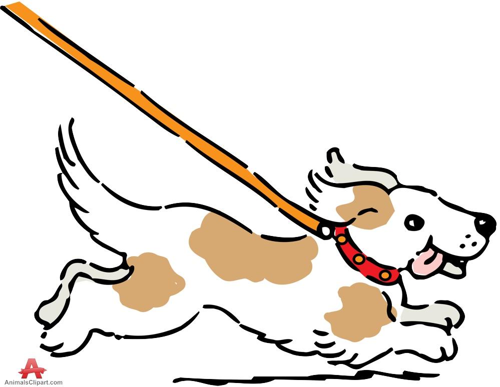 Dog running clipart.
