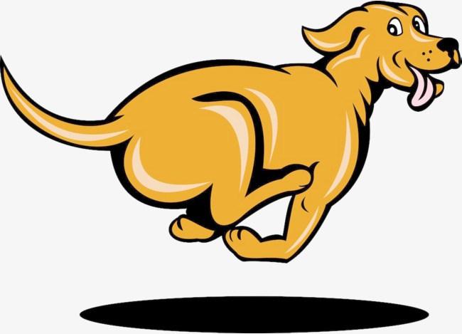 Running dog clipart.