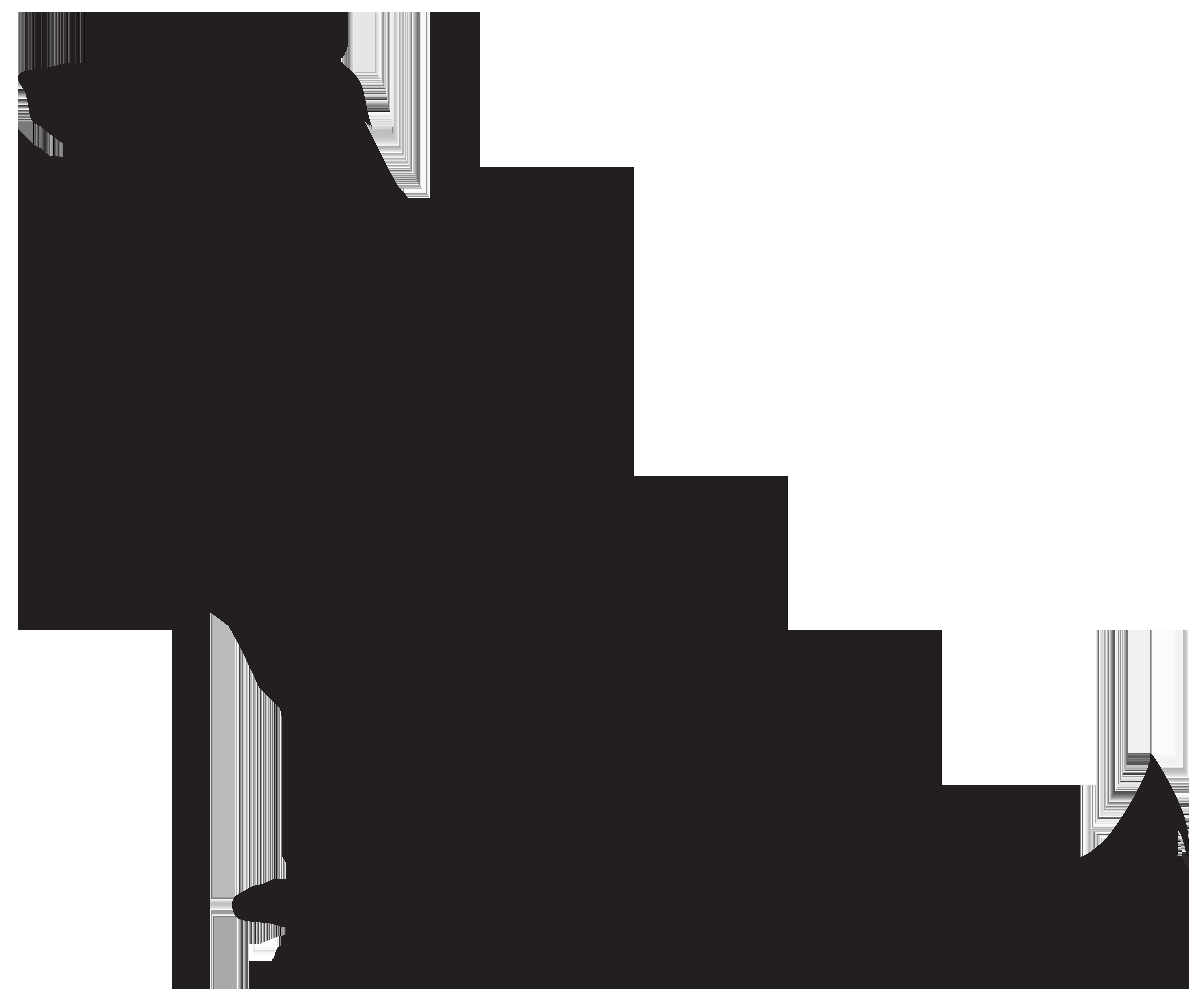 Dog Silhouette PNG Transparent Clip Art Image