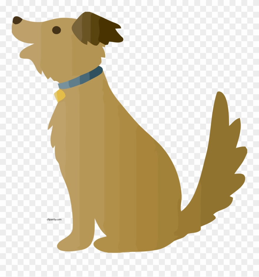 Brown cartoon dog.