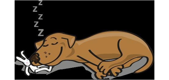 Sleeping dog clipart.