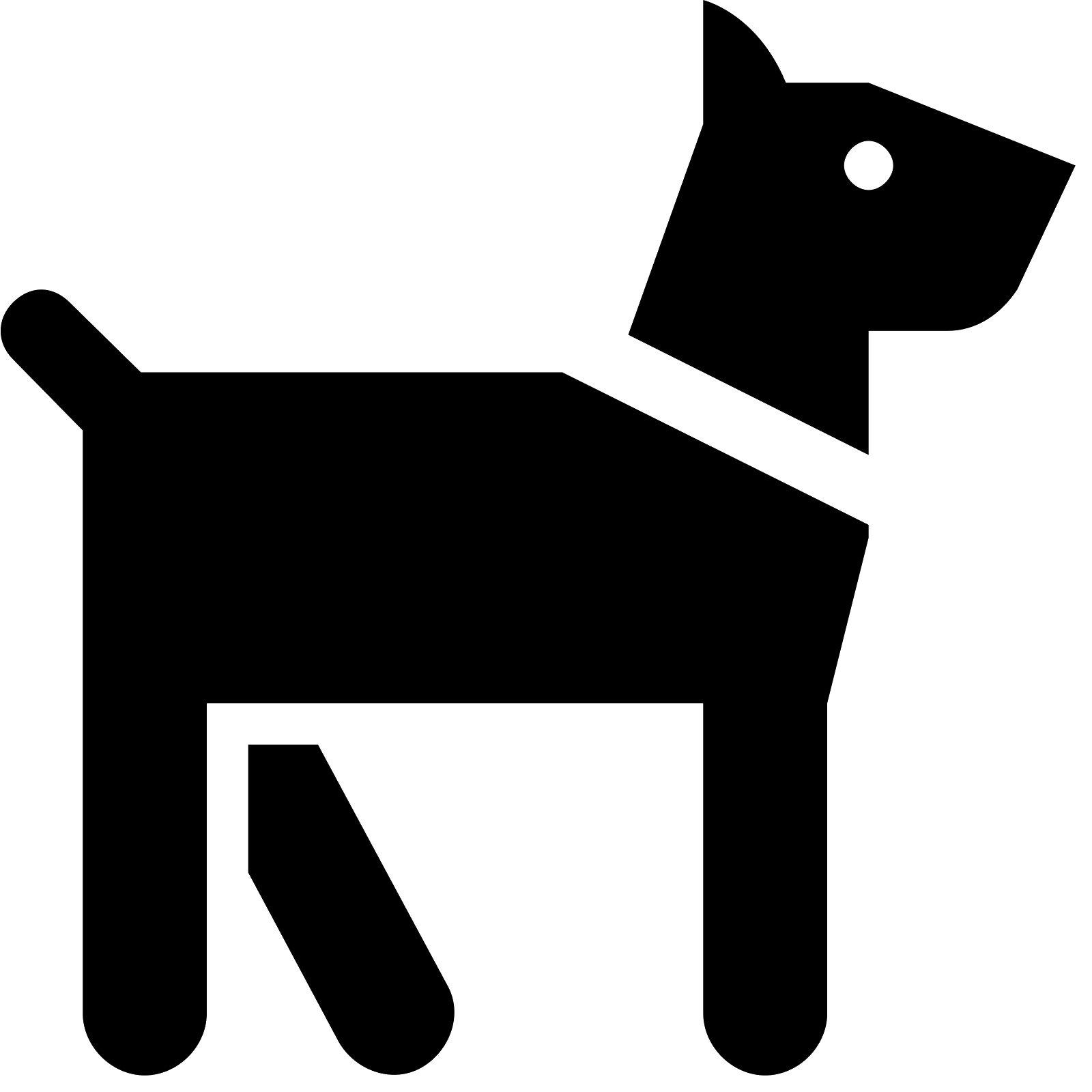 Dog vector icon.