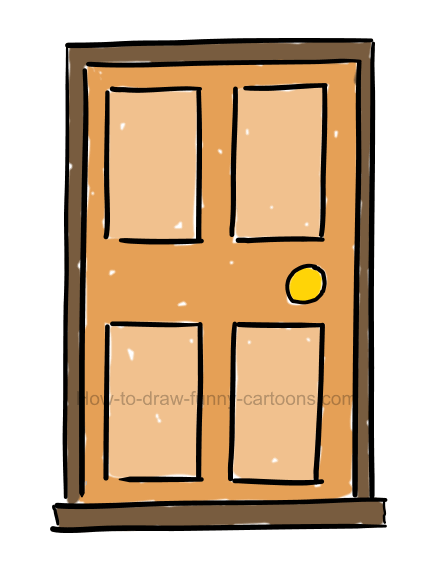 How draw door.