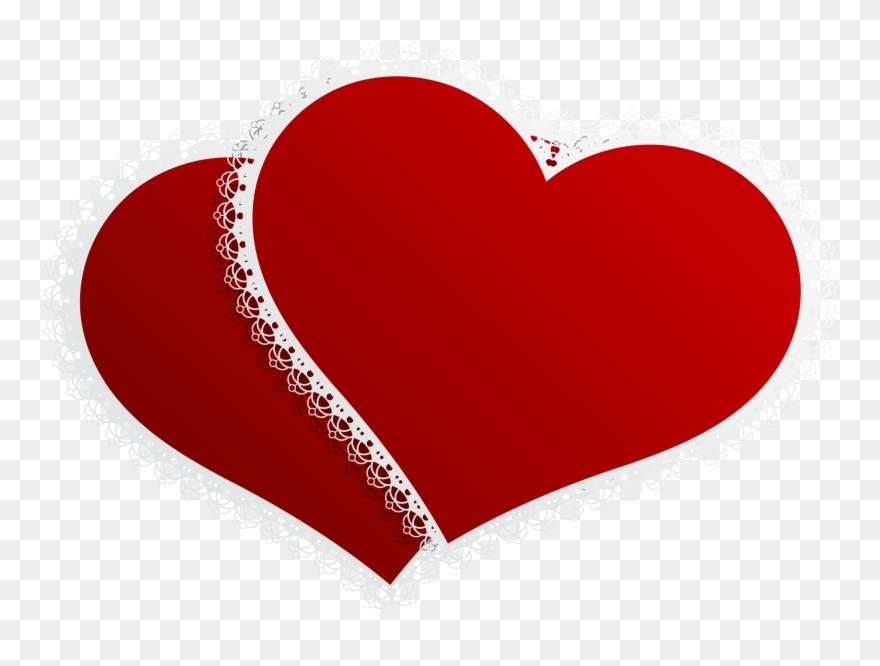 Valentine double hearts.