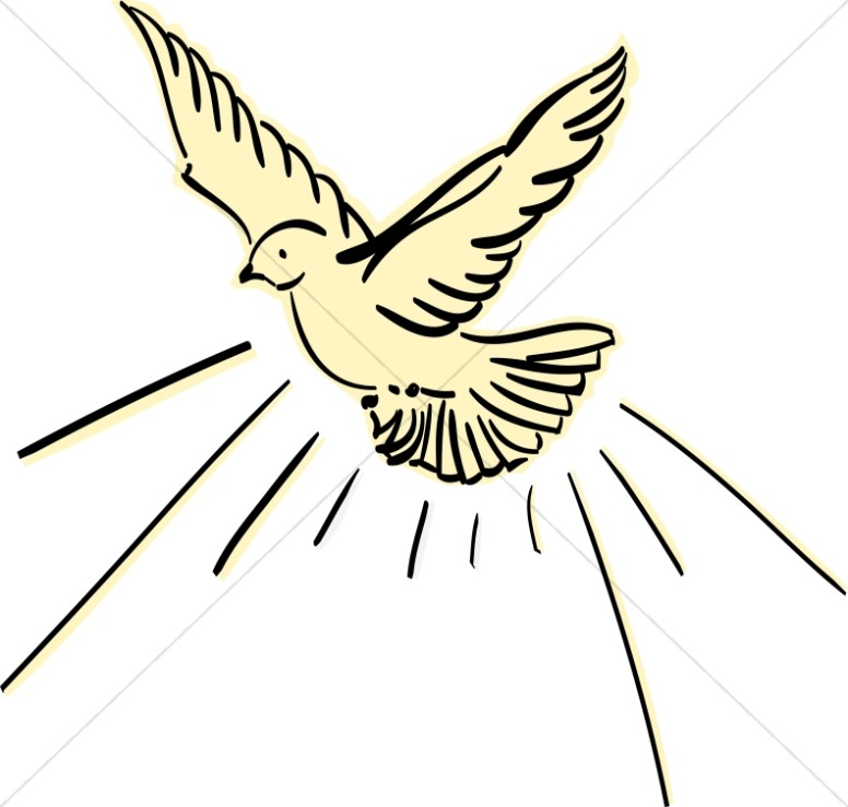 clipart dove peace holy spirit