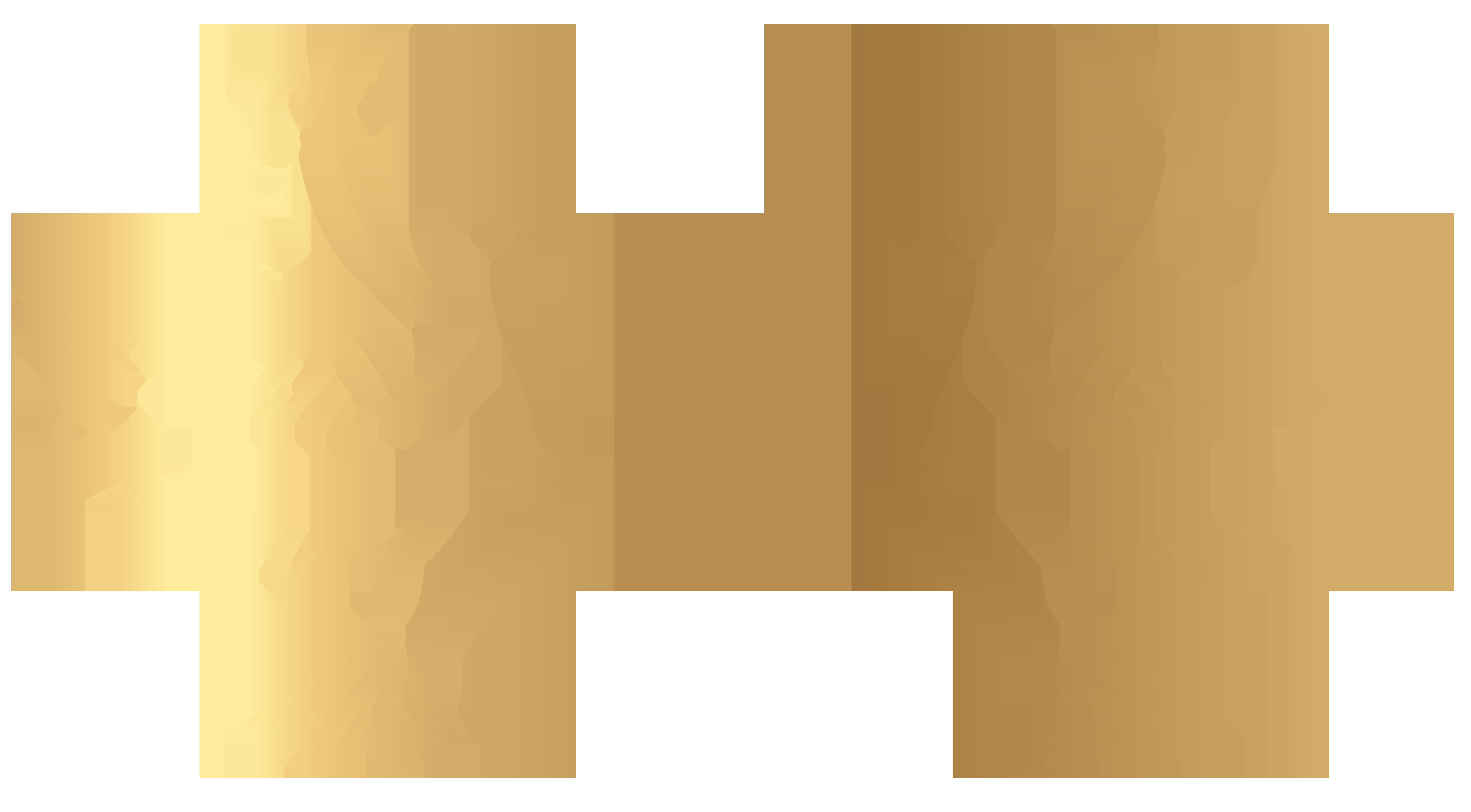 Gold doves decoration.