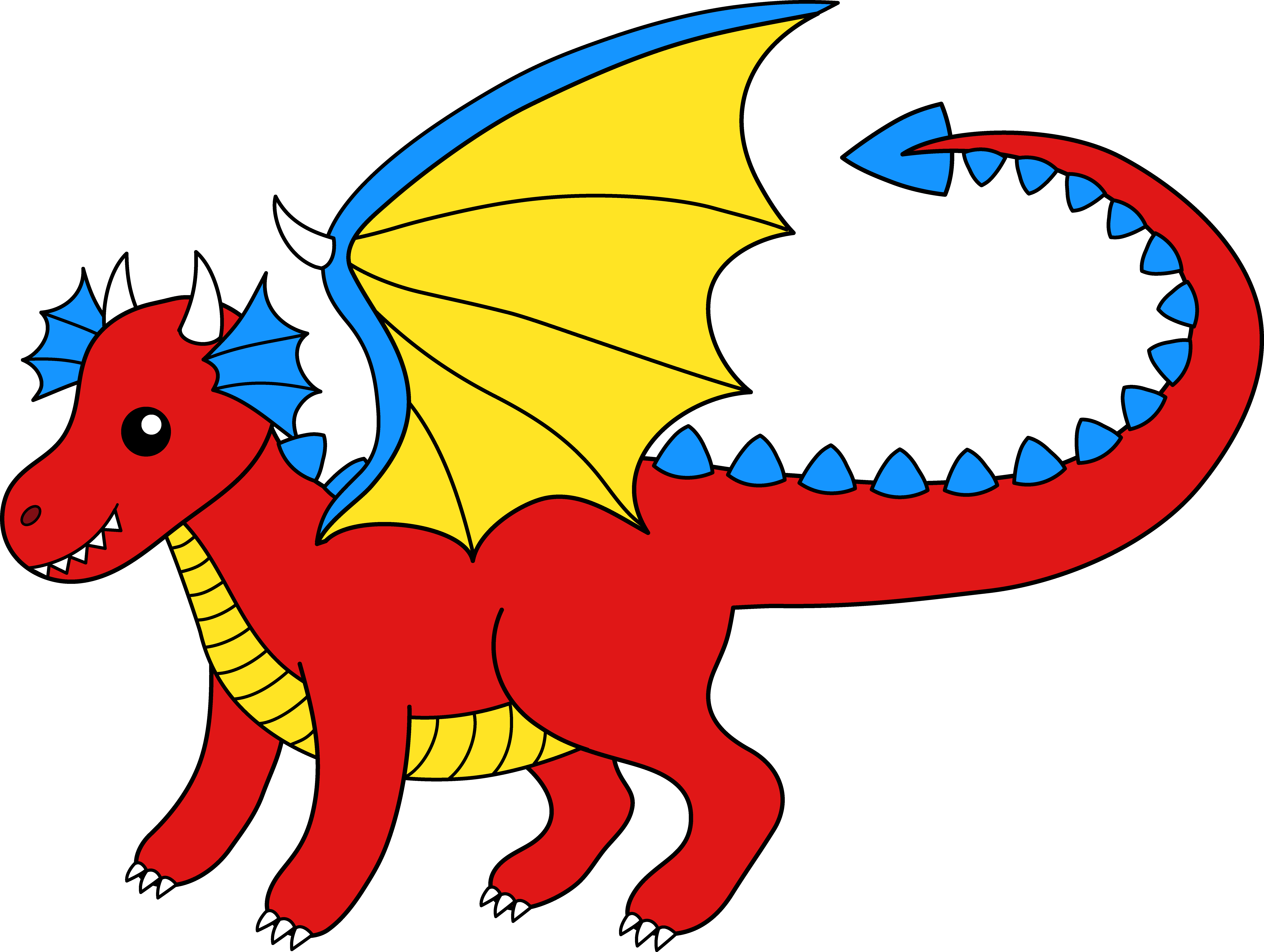 Free dragons cliparts.