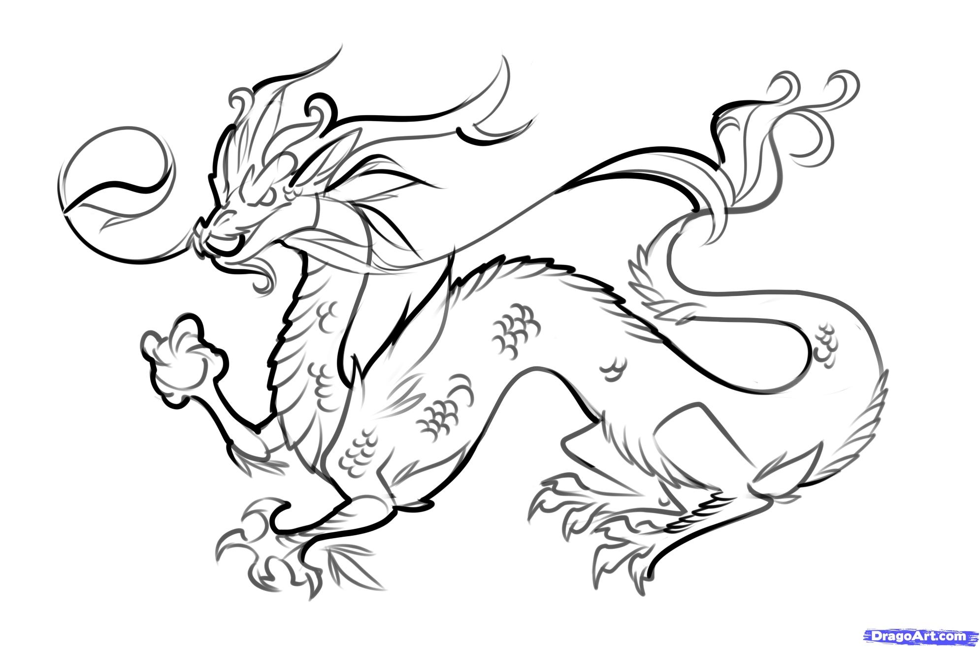 Dragon clipart black.