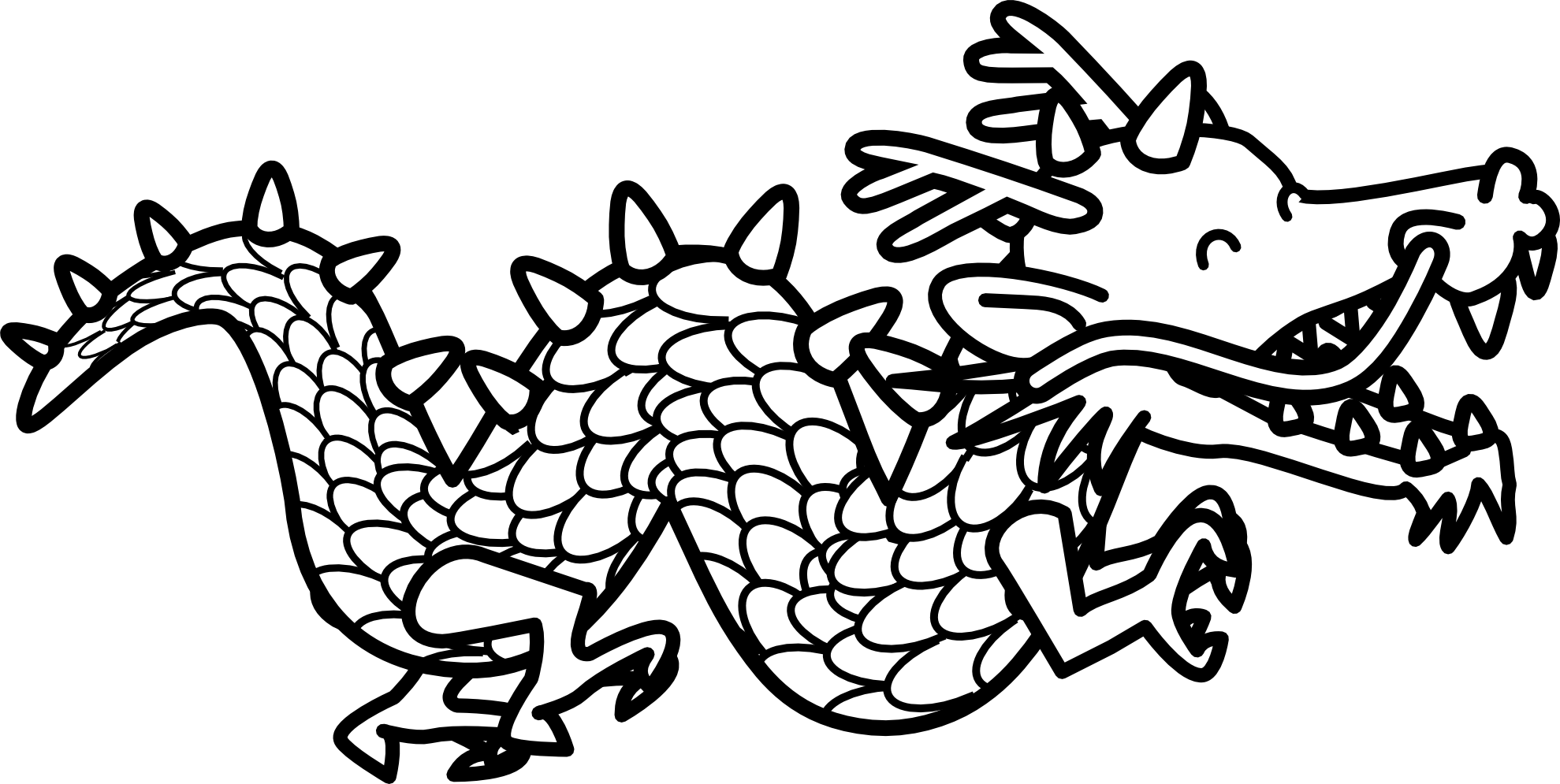 Dragon clipart color.