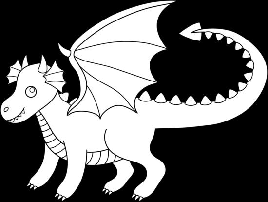 Clipart cute dragon.