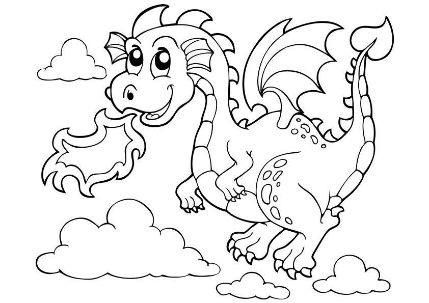 Free printable dragon.