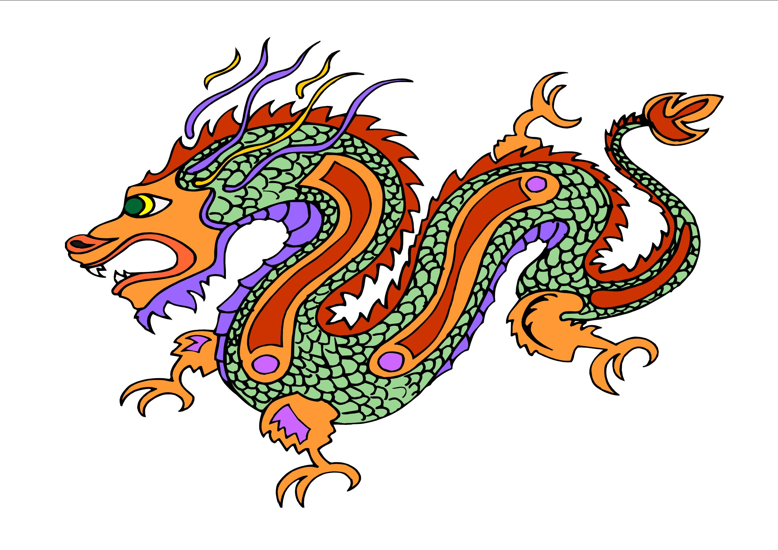 chinese dragon clipart long