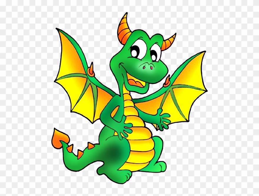 Cute dragons cartoon.