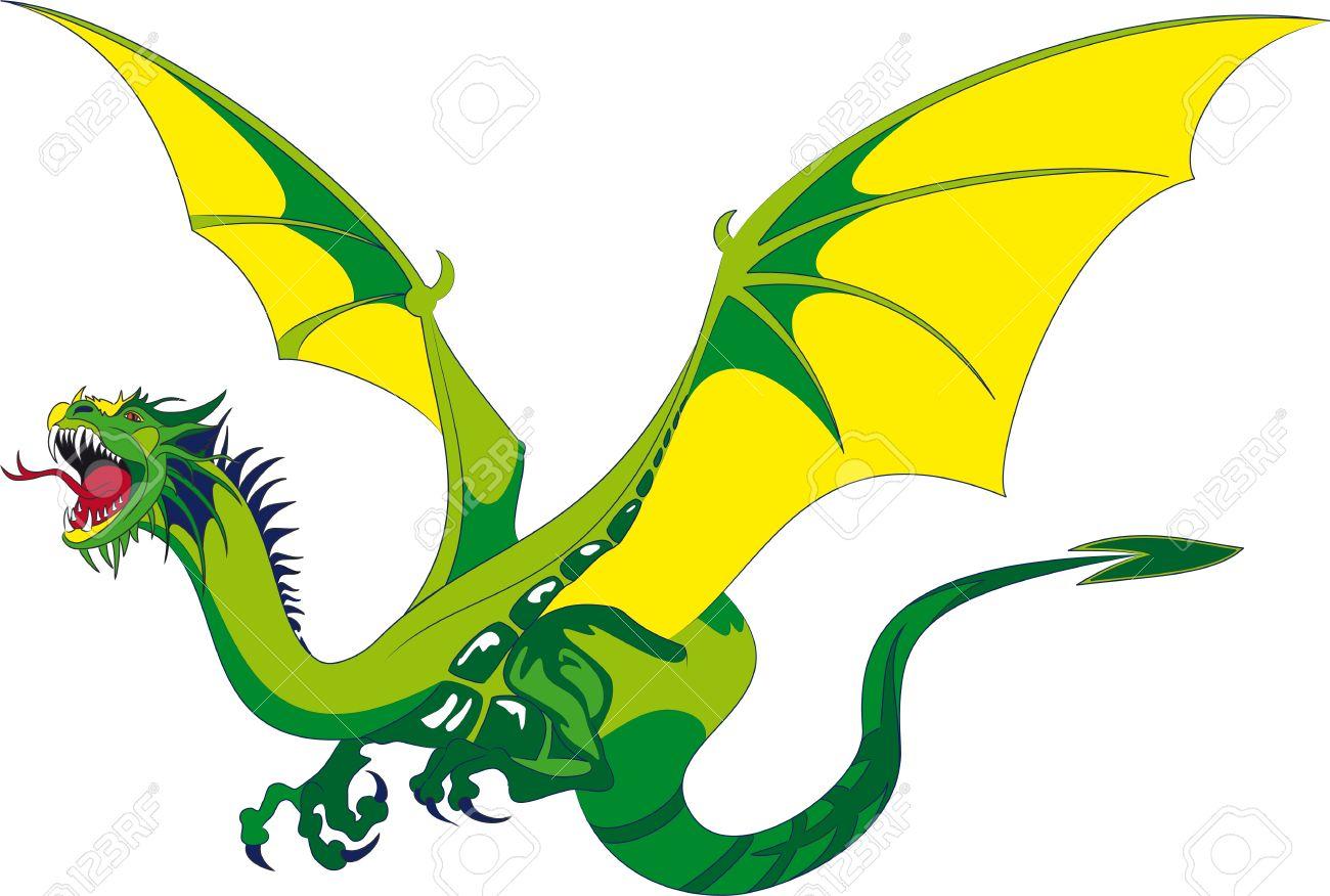 Flying dragon clipart.