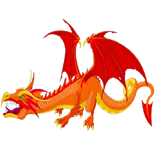 Scary dragon clipart.