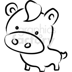 Cartoon cow drawing.
