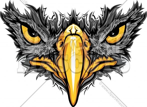Hawk clipart black.