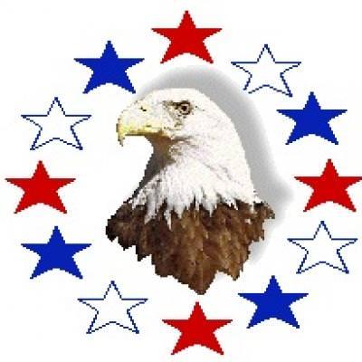 Eagle and stars.